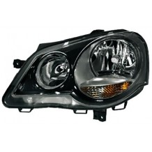 VW POLO 9N3 '05-'09 GTI HEADLIGHTS - BLACK - DRIVER SIDE
